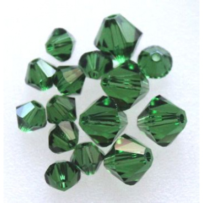 Swarovski bicone 4 mm Dark Moss Green