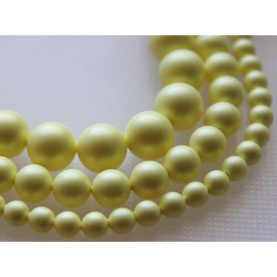 Swarovski Crystal 8 mm Pastel Yellow Pearl