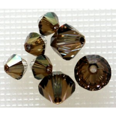 Swarovski bicone 4 mm Crystal Bronze Shade