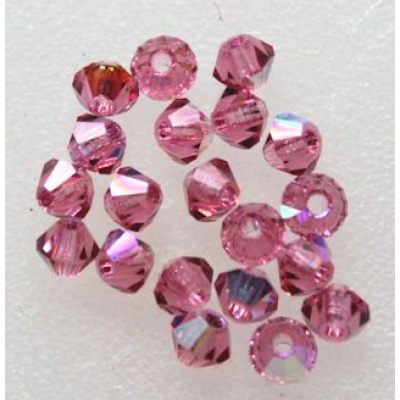 Preciosa bicone 3 mm Rose AB