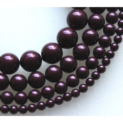 Swarovski Crystal 6 mm Blackberry Pearl 10 kpl