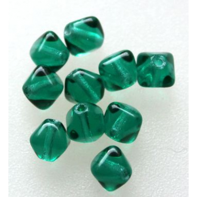Lasihelmi bicone 6 mm emerald