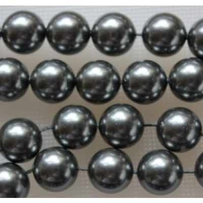 Swarovski Crystal 4 mm Dark Grey Pearl