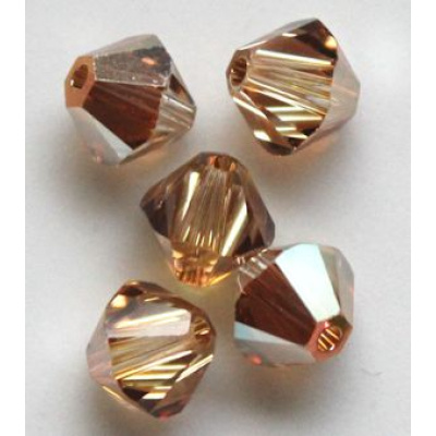 Swarovski bicone 4 mm Crystal Metallic Sunshine