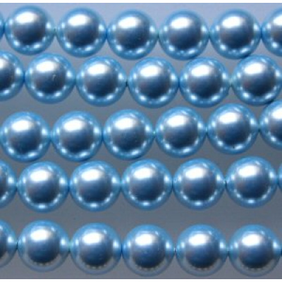 Swarovski Crystal 4 mm Light Blue Pearl 10 kpl