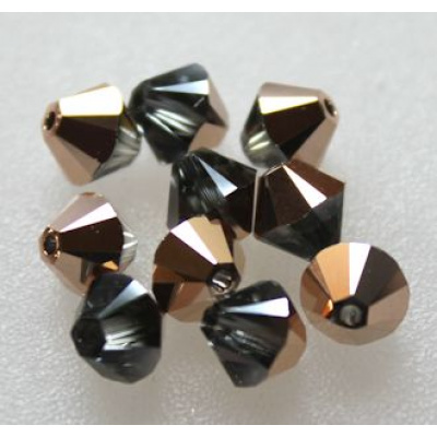 Swarovski bicone 6 mm Crystal Rose Gold