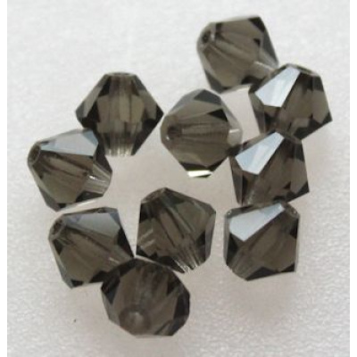 Preciosa bicone 6 mm Black Diamond