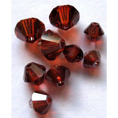 Swarovski bicone 4 mm Crystal Red Magma 10 kpl