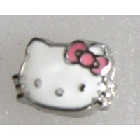 Amuletti hello kitty 7 mm hopeoitu