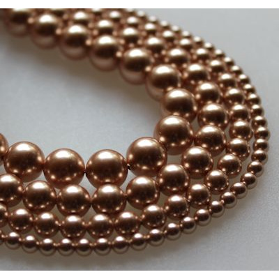 Swarovski Crystal 10 mm Rose Gold Pearl 2 kpl