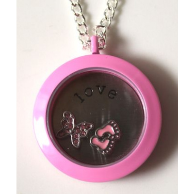 Living Locket riipus 30 mm pinkki