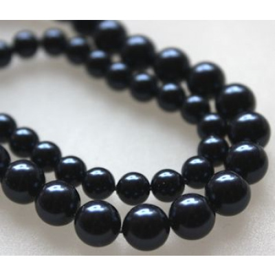 Swarovski Crystal 6 mm Night Blue Pearl 10 kpl