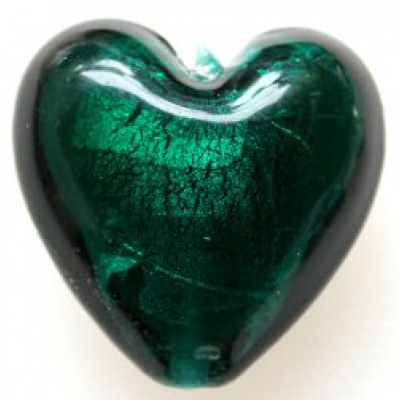 Hopeafoliosydän 28 mm emerald