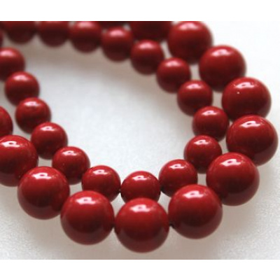 Swarovski Crystal 8 mm Red Coral Pearl
