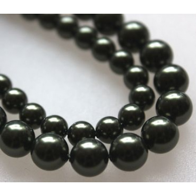 Swarovski Crystal 6 mm Dark Green Pearl