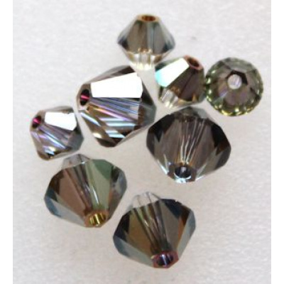 Swarovski bicone 6 mm Crystal Iridescent Green