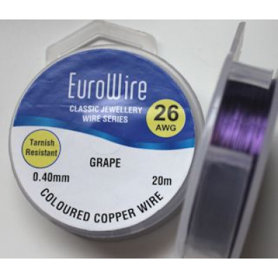 EuroWire kuparilanka 0,4 mm tummumaton grape 20 m puola