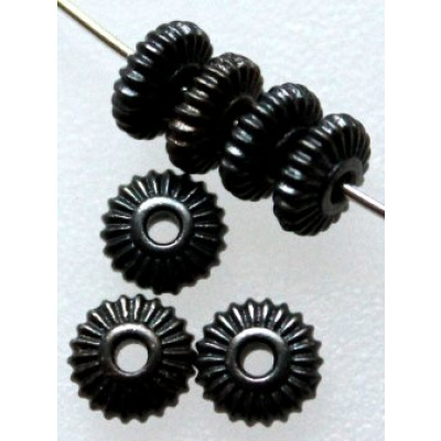 TierraCast® rondelli Crown 5 mm musta
