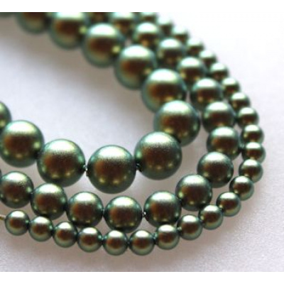 Swarovski Crystal 6 mm Iridescent Green Pearl 10 kpl