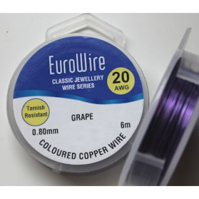 EuroWire kuparilanka 0,8 mm tummumaton grape 6 m puola