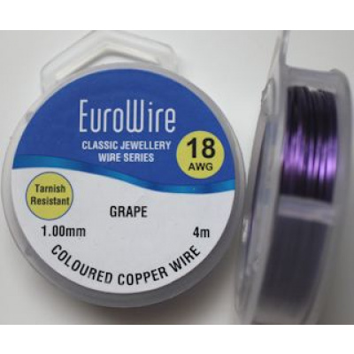 EuroWire kuparilanka 1,0 mm tummumaton grape 4 m puola
