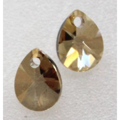 Swarovski xilion pear riipus 8 mm Crystal Golden Shadow