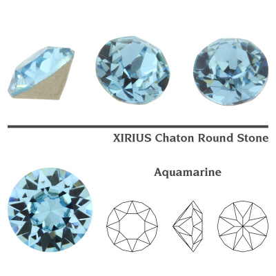 Swarovski 1088 chaton SS39 (8 mm) Aquamarine