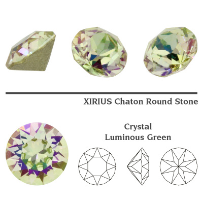 Swarovski 1088 chaton SS39 (8 mm) Crystal Luminous Green