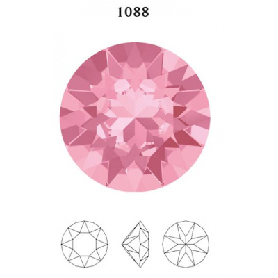 Swarovski 1088 chaton SS39 (8 mm) Light Rose