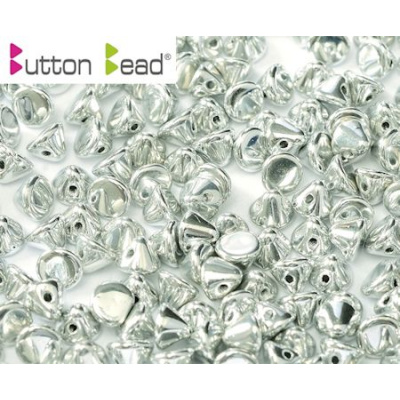Button bead® lasihelmi 4 mm hopea 20 kpl