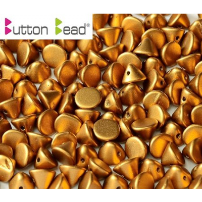 Button bead® lasihelmi 4 mm matta metallinen pronssi 20 kpl
