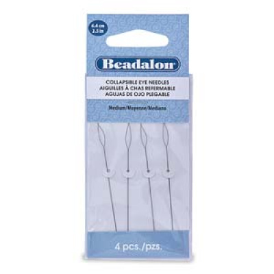 Beadalon pujotusneula (collapsible eye) 4 kpl