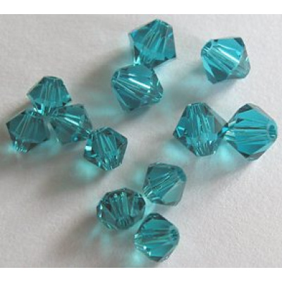 Swarovski bicone 4 mm Blue Zircon