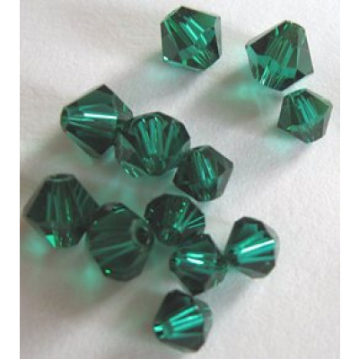 Swarovski bicone 4 mm Emerald