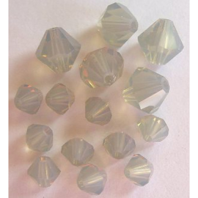 Swarovski bicone 4 mm Light Grey Opal