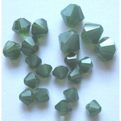 Swarovski bicone 6 mm Palace Green Opal