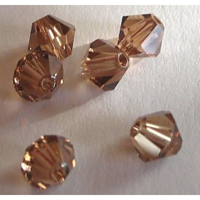 Swarovski bicone 6 mm Light Smoked Topaz