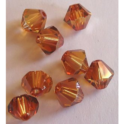 Swarovski bicone 6 mm Crystal Copper