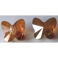 Swarovski perhonen 6mm Crystal Copper