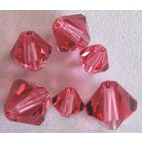 Swarovski bicone 6 mm Indian Pink