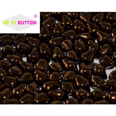 Spiky Button® lasihelmi pronssi 20 kpl