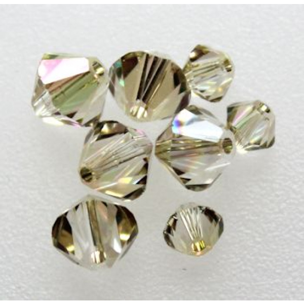 Swarovski bicone 4 mm Crystal Luminous Green