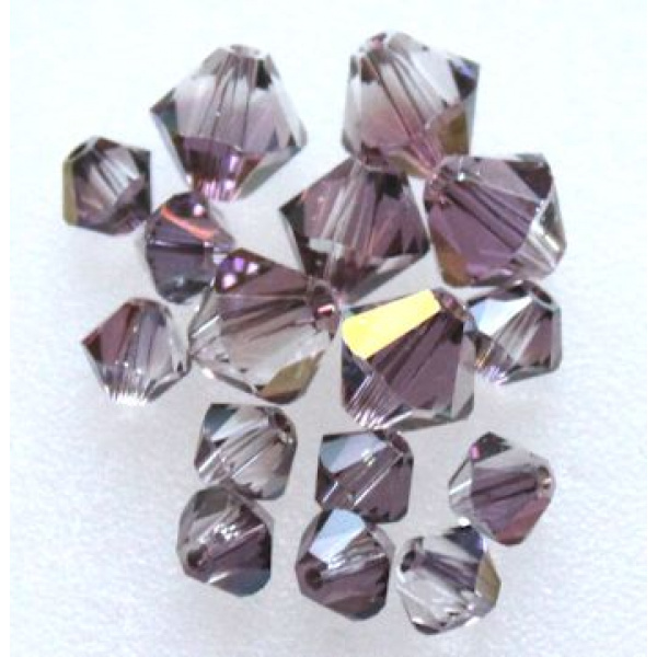 Swarovski bicone 4 mm Crystal Lilac Shadow 10 kpl