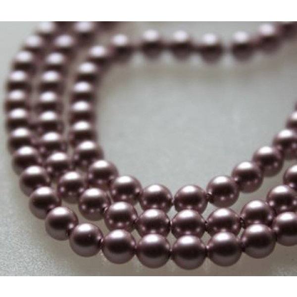 Swarovski Crystal 4 mm Powder Rose Pearl 10 kpl