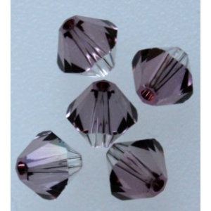 Swarovski bicone 4 mm Crystal Antique Pink 10 kpl