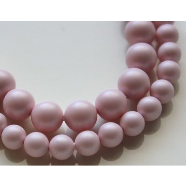 Swarovski Crystal 6 mm Pastel Rose Pearl