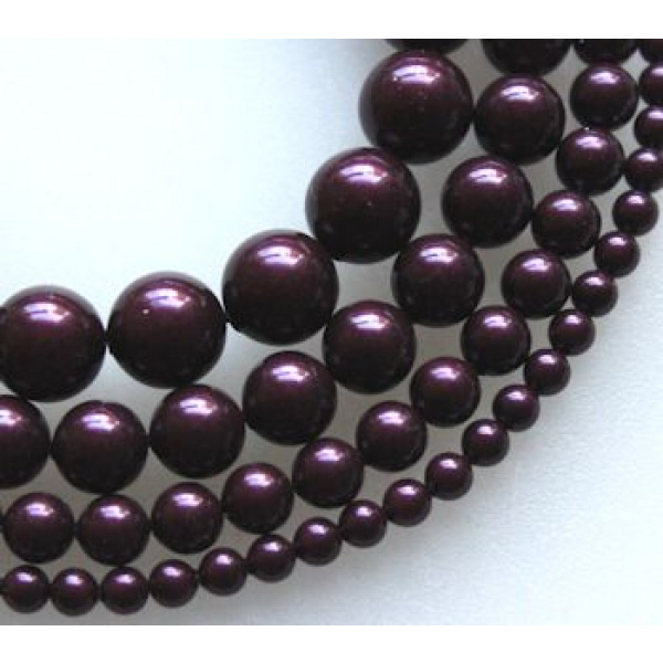 Swarovski Crystal 6 mm Blackberry Pearl