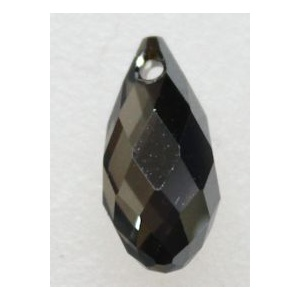 Swarovski briolette riipus 13x6,5 mm Crystal Silver Night