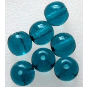 Lasihelmi 6 mm teal