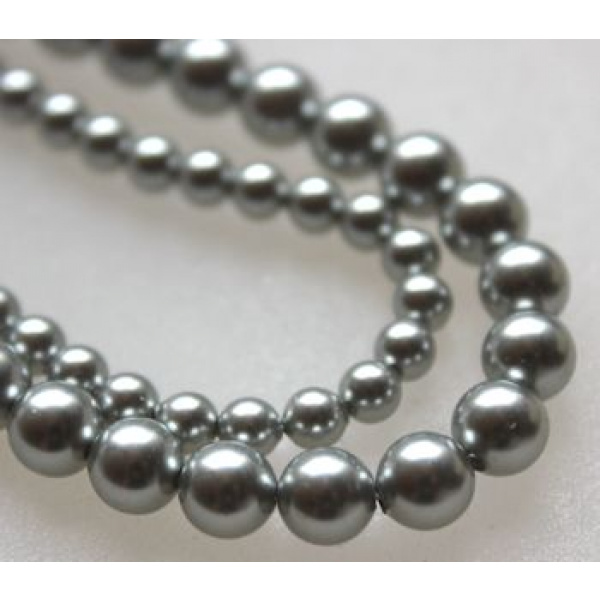 Swarovski Crystal 4 mm Light Grey Pearl 10 kpl